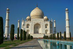 Taj Mahal, Architecture, Minaret