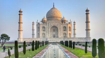 Taj Mahal, Ivory-White, Marble, Agra