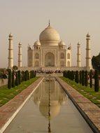 Taj Mahal Mausoleum Agra Uttar Pradesh Gra