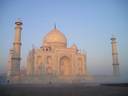 Taj Mahal India Agra Tomb Grave Sunrise Te