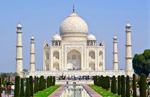 India Taj Mahal Agra Architecture Travel T