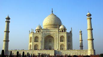 India, Agra Taj Mahal, Mausoleum, Marble
