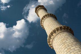Tajmahal, Minaret, India, Mahal