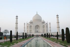 Taj Mahal Monument Wonder India Agra Histo