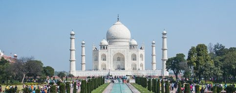 Taj Mahal Agra India Marble Taj Mahal Maus