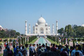 Taj Mahal Agra India Taj Mahal Jahan Palac