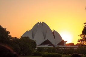 Lotustemple, Delhi, Agra, Asia, Building