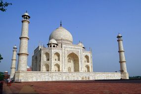 Taj Mahal Unesco Site World Wonder White M