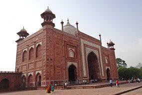Taj Mahal Mosque Red Sandstone Taj Complex