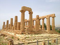 Italy Sicily Temple Agrigento Valle Dei Te