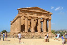 Agrigento Sicily Italy Temple Concord Hist