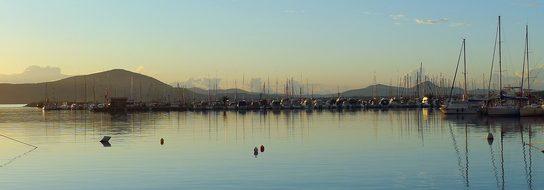 Alghero, Harbour, Sunset, Sardinia