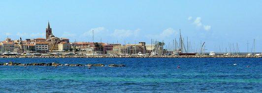 Alghero, Skyline, Seascape, Summer