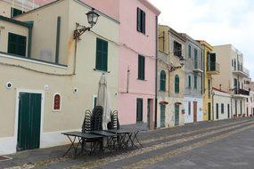 Italy, Sardinia, Alghero, Seafront