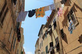 Italy, Alghero, Washing, Old, Himmel