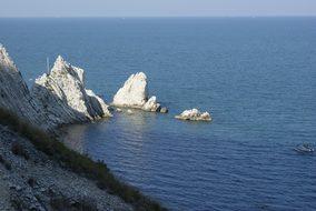 Italy, Conero, Sea, Rock, Due Sorelle