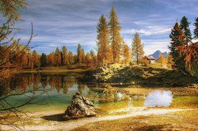 Nature, Autumn, Lake, Tree, Waters