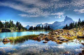 Lago Federa Dolomites Mountains Belluno Na