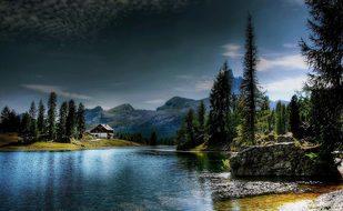 Lago Federa Dolomites Belluno Mountains Na