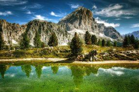 Tofane, Dolomites, Mountains, Italy