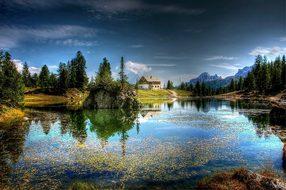 Lago Federa, Dolomites, Nature, Lake