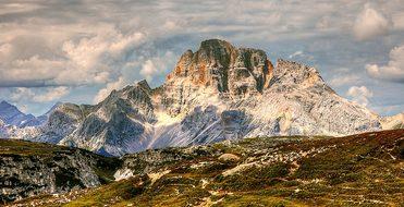 Croda Rossa, Dolomites, Mountains, Italy