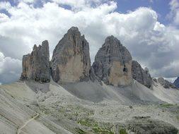Three Zinnen, Mountains, Lime Rock