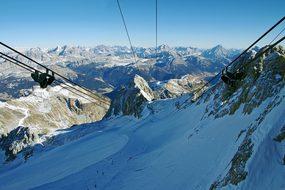 Gondola Marmolada, Dolomites, Marmolada