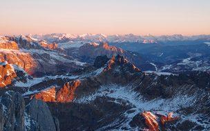 Dawn, Padon, Dolomites