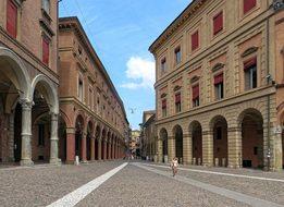 Italy Bologna Red City Arcades Gallery Arc