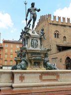 Italy Bologna Fountain Neptune Trident Mas