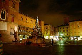 Bologna, Italy, Plaza