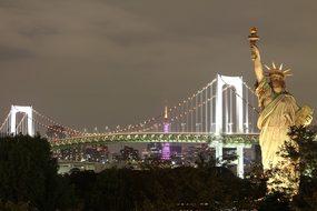 New York Statue Of Liberty Brooklyn Bridge