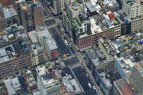 Cityscape Nyc Road Buildings Architecture
