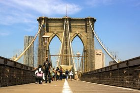 Brooklyn Bridge, New York, Ny, Nyc