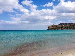 Cagliari Poetto Beach Sardinia Italy Sea M