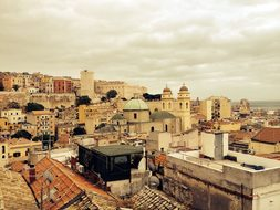 Cagliari Roofs Old Town Outlook Homes Buil