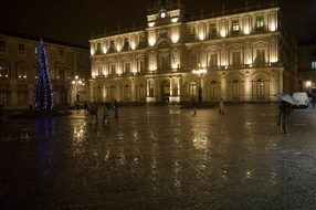 Italy Sicily Catania Christmas Rain Night
