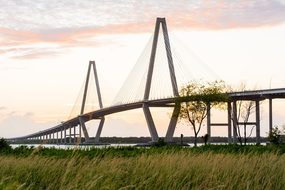 Bridge Charleston South Southern Sunset La