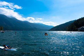 Cultus Lake Lake Sunny Cultus Water Sky Bl
