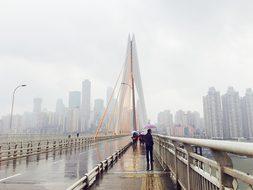 China, Chongqing, Bridge, Fog