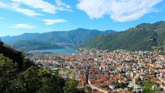 Como Landscape Lake Como Clouds Lombardy W