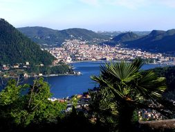 Lake Como Italy City Cities Buildings Arch