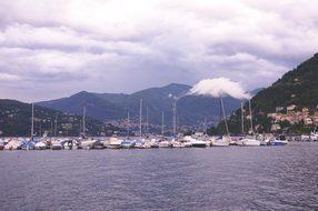 Lake, Yachts, Como, Italy