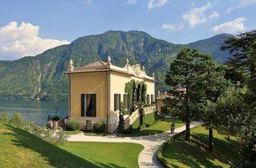 Lake, Villa, Garden, Park, Italy, Water