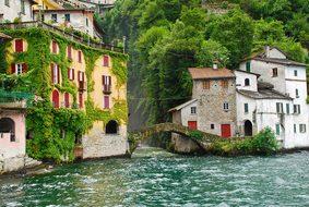 Lake Como Lago Di Como Italy Village Scene
