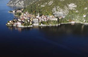 Aerial View Lake Como Italy Lake Mountains