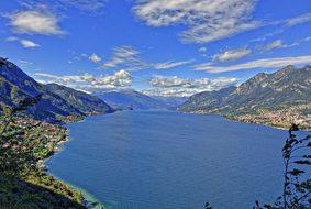 Landscape Lake Como Lecco Lombardy Italy W