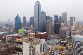Dallas Skyline City Texas Downtown America