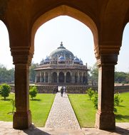 Isa Khan Tomb Tomb India Delhi Monument Fo